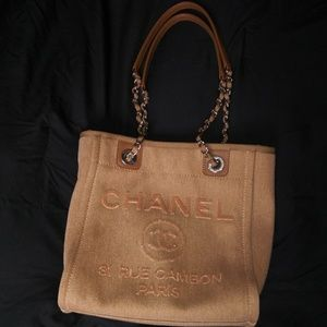 3d8f14f5102a Women s Chanel Canvas Tote Bag on Poshmark